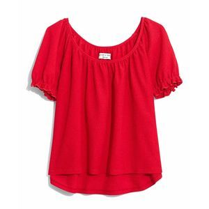 Madewell Texture & Thread Peasant Top Small